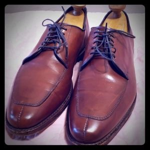 Allen Edmonds sz 9 b delray brown leather oxford